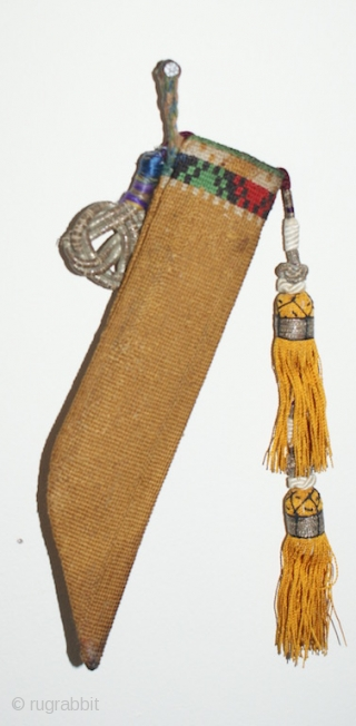 Beautiful Uzbek Lakai cross stitches knife sheath. Excellent natural colours and good condition. Offered reasonable price.