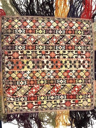 Beautiful Antique 19th century Uzbek Sharisabz region cross stitches embroidery. Excellent natural colours and good condition. The size is 50cm X 60cm.