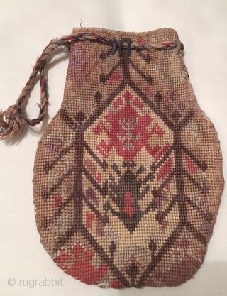 Uzbek cross stitches purse. Excellent natural colours and good condition.