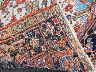 OLD HERIZ -RIGHT FROM AN ESTATE  - GREAT SIZE OF 76 X 108 ( 6 1/2 X 9 FT)