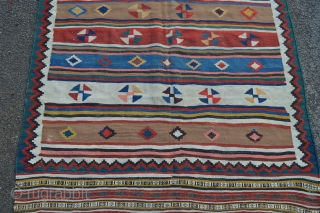 Qashqa'i kilim -19th century - in very good condition.
