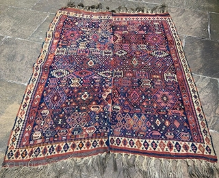 Anatolian flat-weave made in two parts - possibly Van area - in very good condition 2.09 x 1.66m.