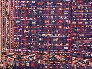 Verneh - possibly Kordi tribes of the Quchan region in very good condition -  2.50 x 1.70m.