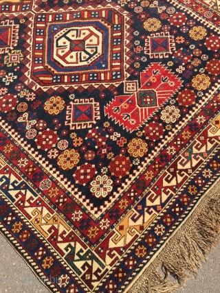 Antique caucasian Shirvan rug.