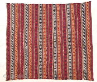 """Antique Shahsavan jajim 176 x 164 cm. Cf. Sabahi T. """"Shahsavan jajim"""" pl. 39. Very good condition."""