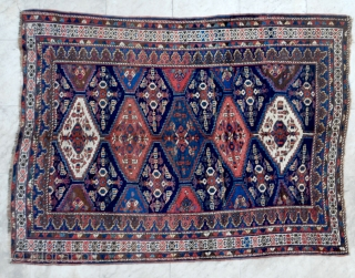 South Persian tribal rug (could be Afshar) ca. 1930. 145 x 192 cm. One spot of low pile, otherwise good pile and colours.