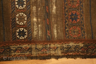 Antique sounak/brocade/kilim long flatweave + a fragment of the same type. Good for study.