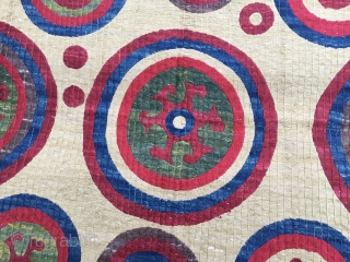 I bought this ❤️ lovely textile about ten years ago. It seems a Kaitag, but it's not. Most probably coming from Uzbekistan. But, never mind, it's a great piece. I love it,  ...