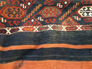 East Anatolian mafrash made of two local storage bags/cuvals. Great tribal bag. A very rare item. I've never seen one before! Wonderful colors, needs caring but still in good condition. A real  ...