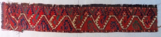 Turkman Ersari rug fragment. Cm 33x183. Imho first half 19th c. Fantastic colors. It has got a kind of Salorish flavour......isn't it?!