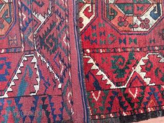 Turkmen Ersari rug fragment. Cm 67/77x177. Early 19th c. Great colors.
