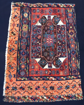 Eastern Anatolia Diwan carpet fragment. Most probably Kagizman. Cm 90x115 ca. Second half 19th century. Best natural dyes. The apricot is simply incredible. Almost all over full pile. The colors are simply  ...