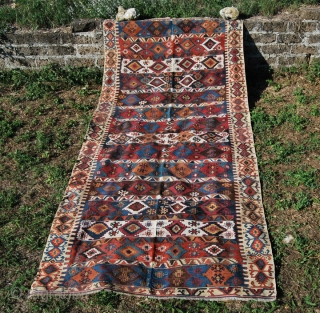 Malatya kilim. Cm 360x170. Second half 19th century. This is a great kilim, with fantastic colors and a wonderful color combination. It's one of the super pieces i collected in long years.  ...