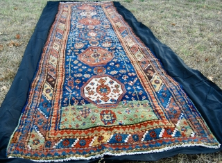 Shahsavan rug, cm 380x110, or ft 12.5x3.6. End 19th/early 20th century - Mint condition - High, full, heavy pile - Great, soft wool - Fantastic, natural dyes - No restorations, no holes,  ...
