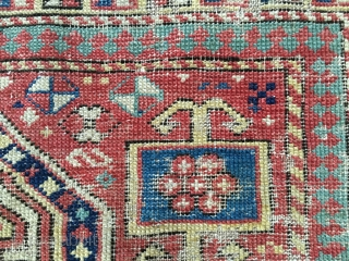 Caucasian prayer rug fragment. Cm 45x90 ca. Probably Shirwan or Akstafa. Imo it might be 2nd or 3rd q of 19th c. I had it for over half a century!. It might  ...