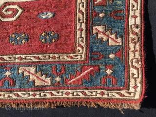 Baku. Dragon sumack khorjin bag face. Antique, good dyes, elegant, powerful, in good condition, some old rests.