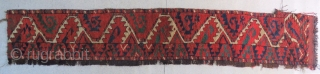 """Salorish"" Ersari main rug fragment. Size is cm 35x180. Early 19th c. Spectacular colors."