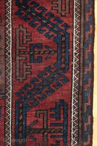 "Baluch rug; size 117 x 188 cm (3`10"" x 6`1""); 