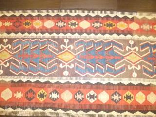 Anatolian Konia Obruk Kilim XIX th.century 108x410 cm
