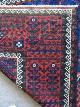 Antique Baluch Rug good condition shiny wool 1,07*2,02