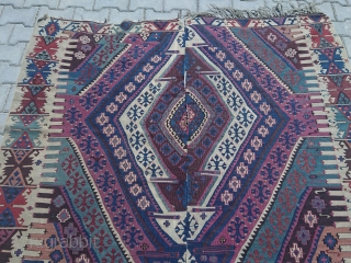 GREAT color Anatolian kilim Size 270*165 cm Free shipping all word