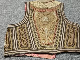 Antique turkish gold and silver filigree ottoman cepken vest It is a complete hand work.