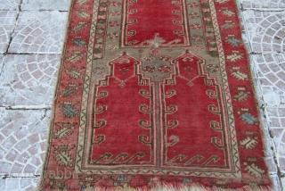 Sivas family pray rug. three saph  size=142x92 cm