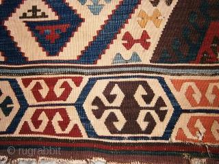 Anatolian Aydın Kilim. (fragment) 79cm x 345cm