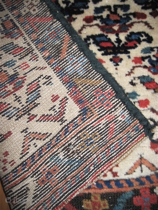 "Shahsevan pile fragment, composed of two pieces, 22"" x 8'7"".  Cotton wefts.  Thick and lush full pile. For comparison, I have included a photo of a Shahsevan chanted w/ a  ..."