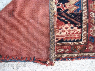 "Gashgai Bag, a chanteh?  11"" x 17"", w/ plain weave red back, very finely woven."