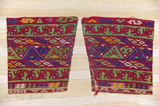Ersari Turkmen embroidered coat sleeves.