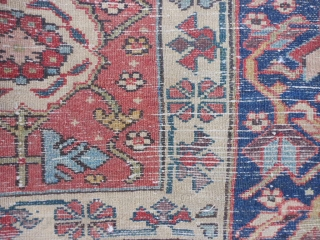 North West Persian, Kurdish, late 19th century, 4-8 x 9-9 (1.42 x 2.97), good condition, good pile, one end complete with parts of original selvage, other end missing two lines and overcast,  ...