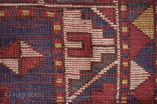Fachralo rug, Late 19th Century.  Strong, bold and simple design with a lot of negative space.  It rests and excites the eye as the gaze moves from bold field to  ...