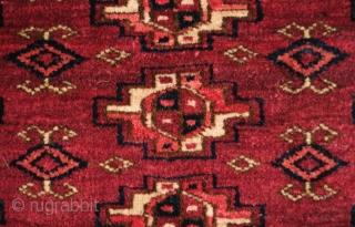 Tekke Turkmen Torba Face, Late 19th Century. 15 guls.  Very fine workmanship.  25 x 68 cm.