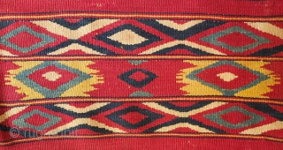 Monastir Kilim, 3rd Quarter of the 19th Century.  This kilim is a wonderful burst of rich and intense colors.  It is in two panels and possibly had a third panel.  ...