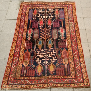Armenian Persian Garden Carpet, 4th Quarter of 19th Century.  Wonderful soft wool.  Great colors and a classical design. It has a few areas of wear and a small tear at  ...
