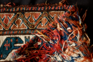 Shahsavan Bag Face, Khamseh area, 3rd to 4th quarter of the 19th Century. Very fine workmanship with some countering in the extra weft wrapping.  All colors are natural.  No chemical  ...