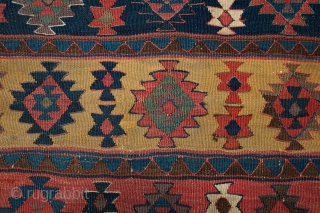 Bidjar Kilim, Second half of 19th century. Fantastic rich colors and a purple of an older hue. 170 cm X 270 cm