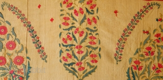 Nurata Suzani, Mid-19th Century.  Many birds. Incredible colors and very fine workmanship.  More images on request.  148 x 255 cm