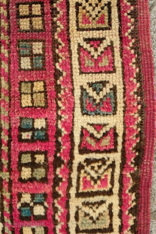 Manastir Prayer Rug, Late 19th Century.  Soft pastel shades. The outer border contains kufic designs seen in 14th to 16th century Turkish rugs from Seljuk to Ushak rugs.  A fabulous  ...
