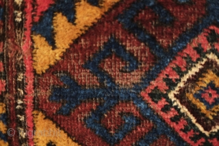 Kyrgyz karshin, late 19th or early 20th century, Good colors and strong design.  A very intense deep forest green in the hooked medallion in the 1st image and one of the  ...
