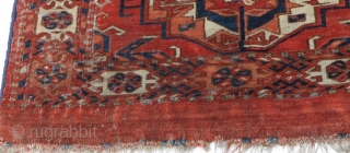 Antique 6-gul Tekke torba, third quarter of the 19th Century, freshly acquired.  In need of a bath.  One of two currently available.  Please ask for additional photos if needed.  ...