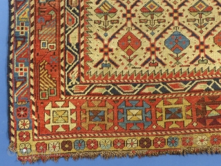 "Caucasian, Marasali Prayer Rug, c.1875-1910, 70"" X 38"", Washed, Shows some wear...