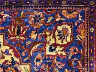 "Antique Silk Kashan Prayer Rug, c.1900+/-, 80"" X 50"", excellent condition, small,