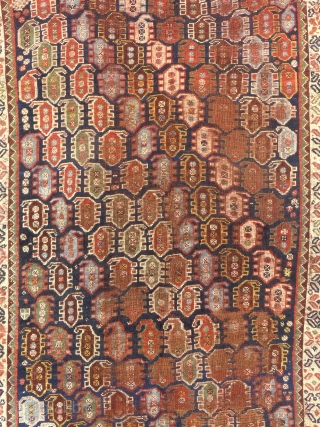 Antique Boteh Khamseh, c. 1875-80, Shows wear, Price on request...SOLD.