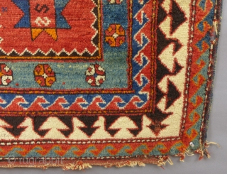"Antique Caucasian Borjalou Kazak Prayer Rug, 65"" x 45"", Dated(?) c.1875-1900