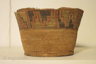 Basket, Tiwanaku culture, Bolivia, circa 800-1100AD, diameter 6 1/2 inches, height 4 inches