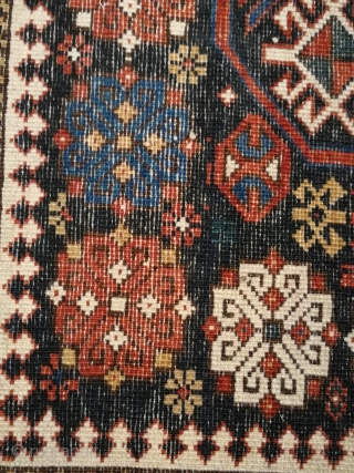 Antique decorative caucasian rug, size 178 x 129 cm. 