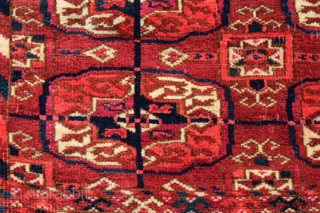 Tekke rug C1900, 164 x 120, Full pile, old repair