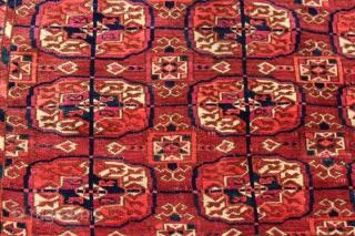 Tekke rug C1900, 164 x 120, Full pile, old repair